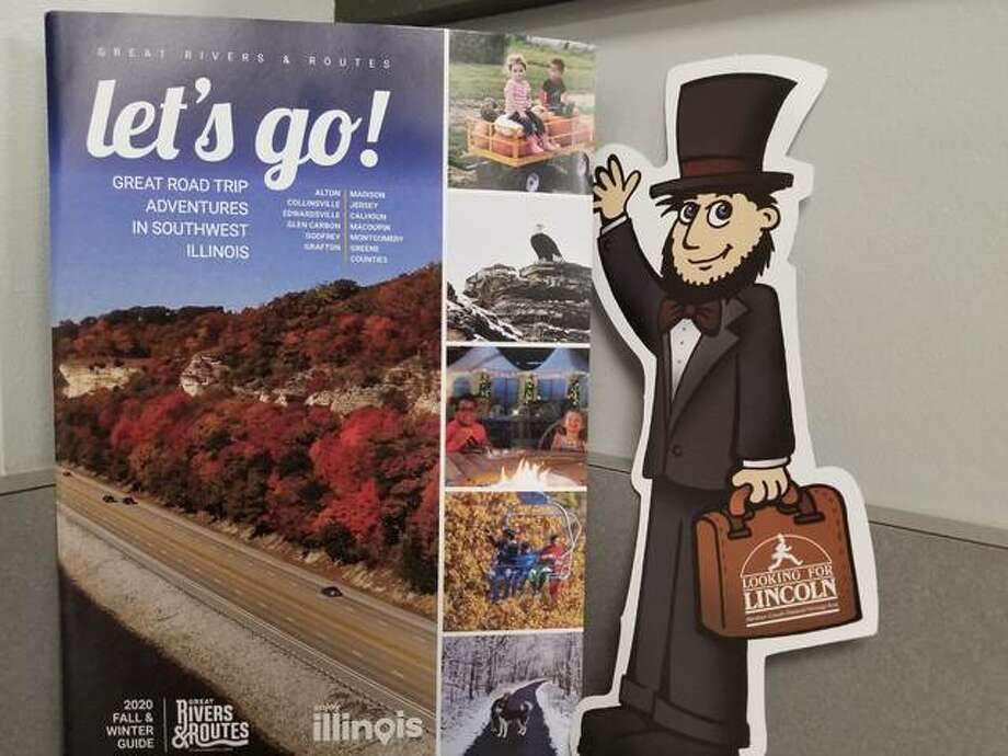 The Great Rivers & Routes Tourism Bureau is seeking tour guides for a paper cut-out of Lincoln available at the Alton Visitor Center. Hosts are asked to post photos on social media and use the hashtag #FlatLincolnFun. The post with the most likes at the end of the month will receive a Great Rivers & Routes prize bag. Photo: Courtesy Of Great Rivers & Routes