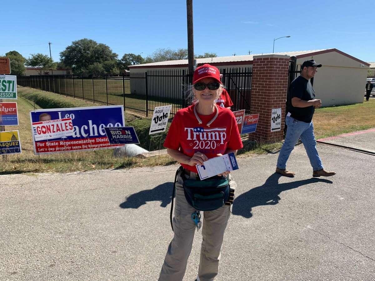 Trump Train event in San Antonio on Nov. 3, 2020.