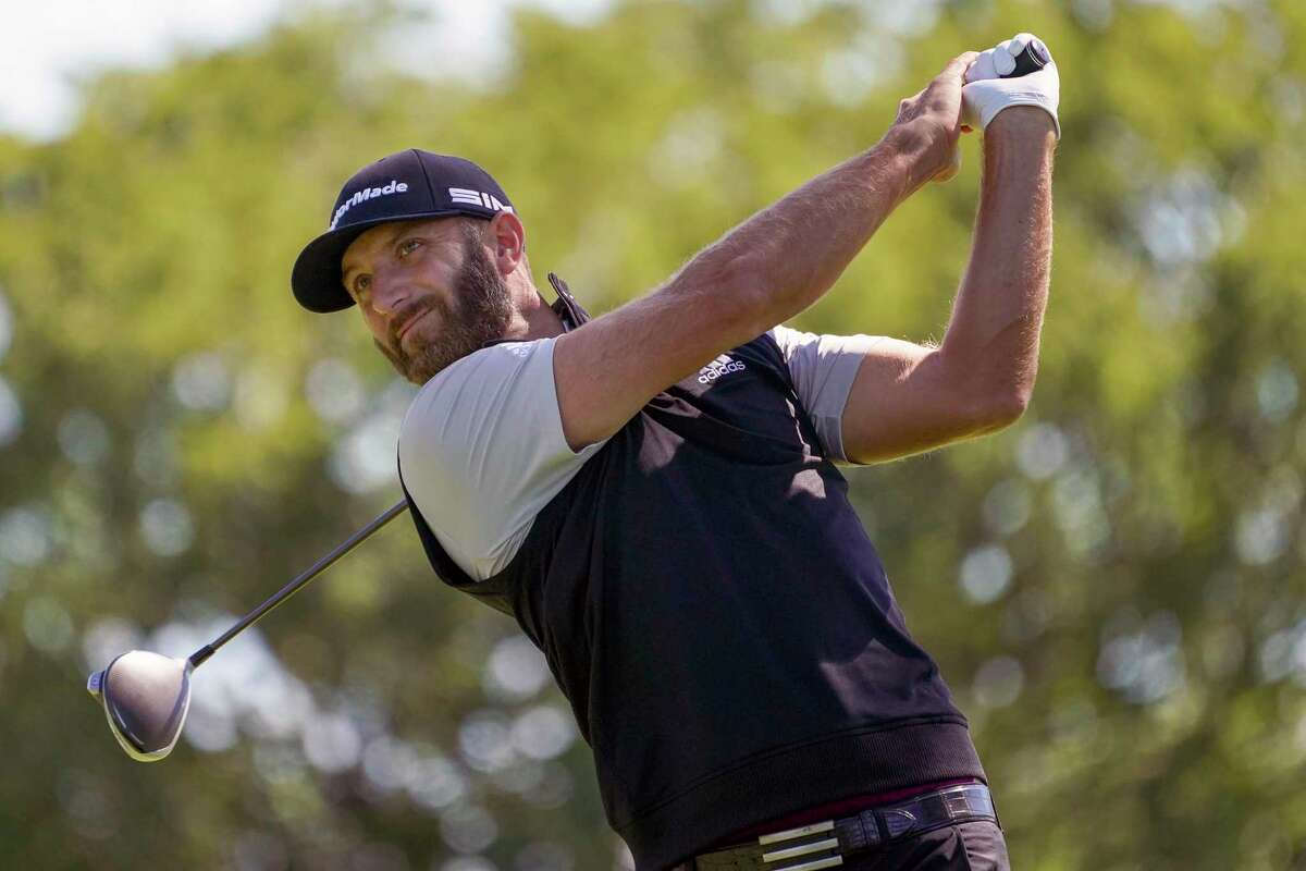 Dustin Johnson had to withdraw for a tournament in October because of a positve test for COVID-19 but he will be back at Houston Open.