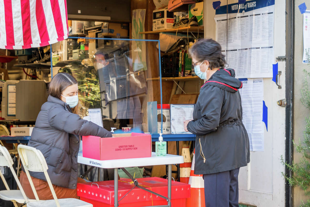 San Francisco residents convert their garages into polling stations for the 2020 Presidential Election on November 3, 2020, as they have done in years past.