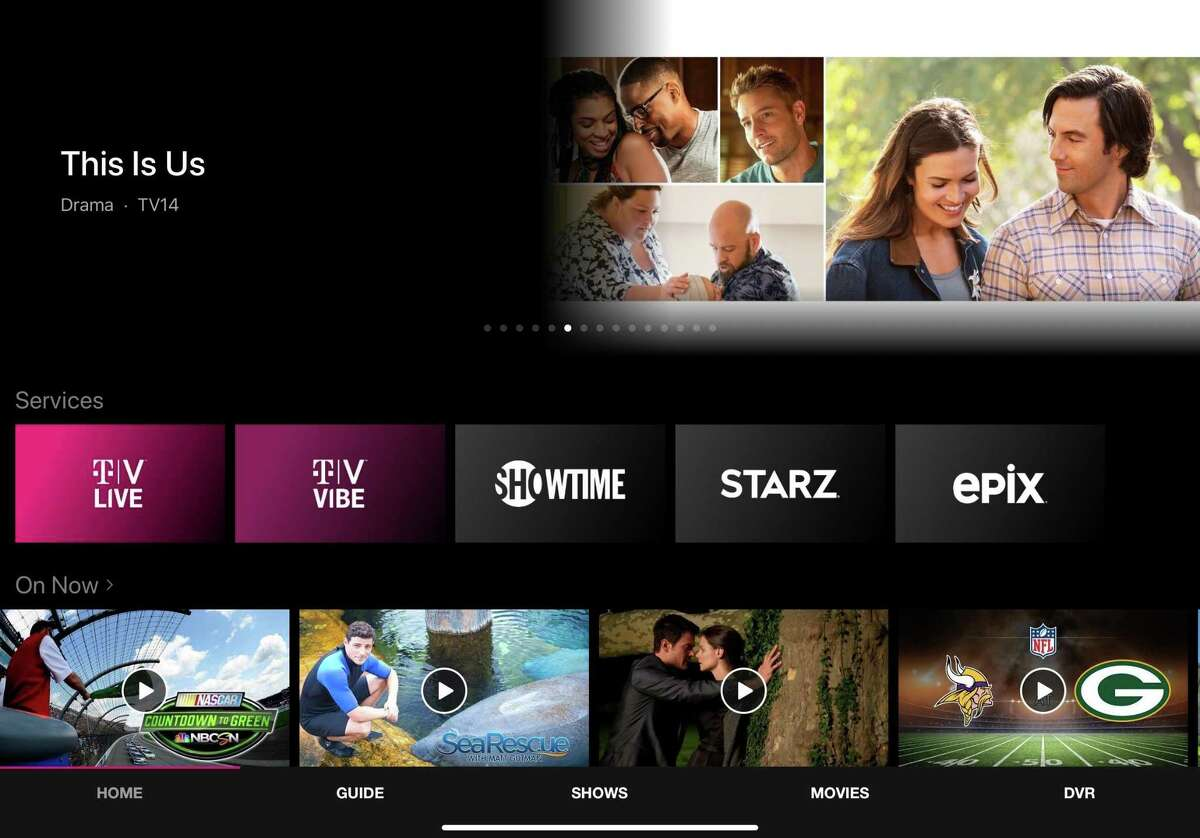T-Mobile's TVision has a look that will be familiar to anyone who's used other streaming TV services.