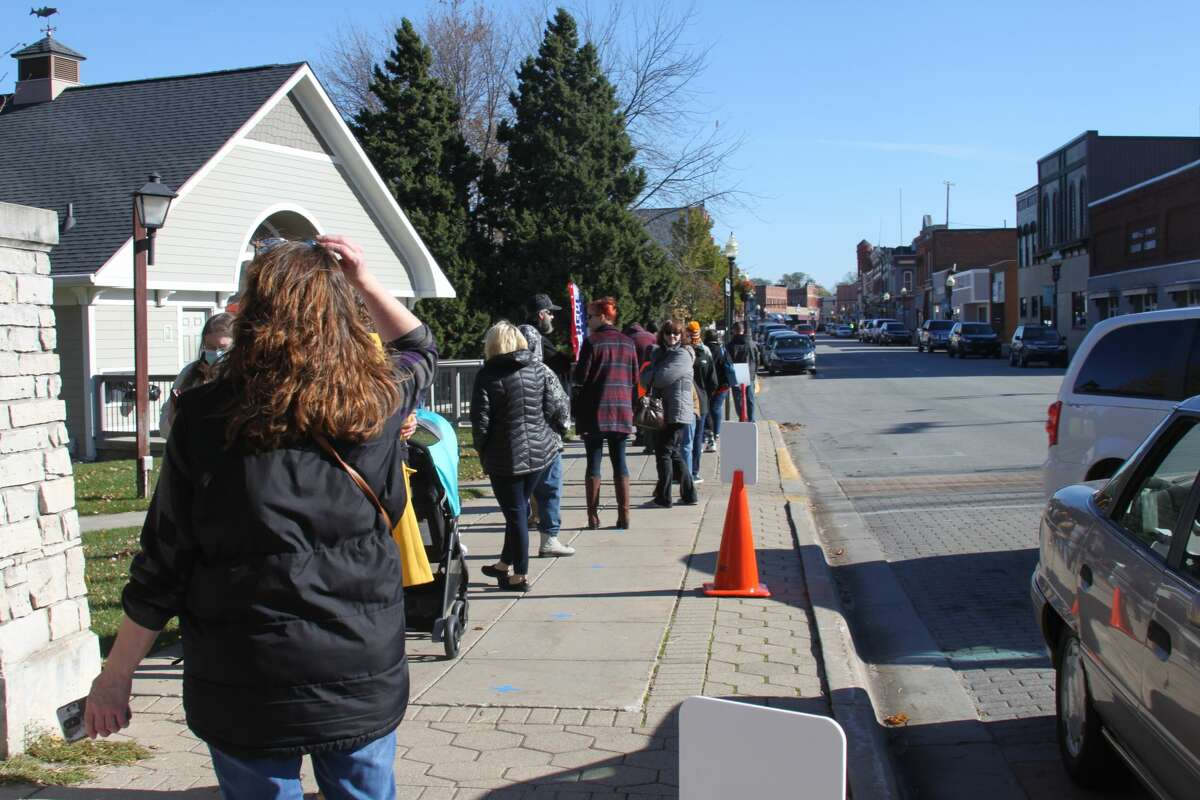 Voters turned out in large numbers to vote in person in Manistee County.