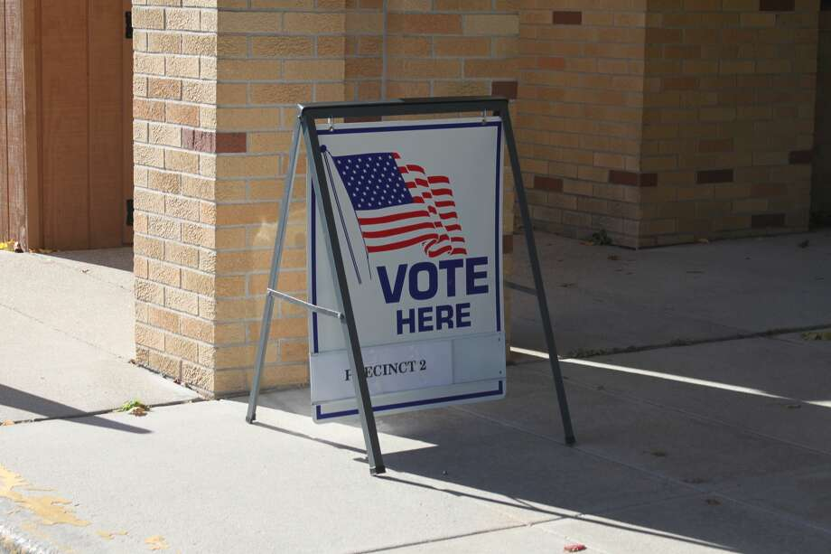 Voters turned out in large numbers to vote in person in Manistee County. Photo: Erin Glynn/News Advocate