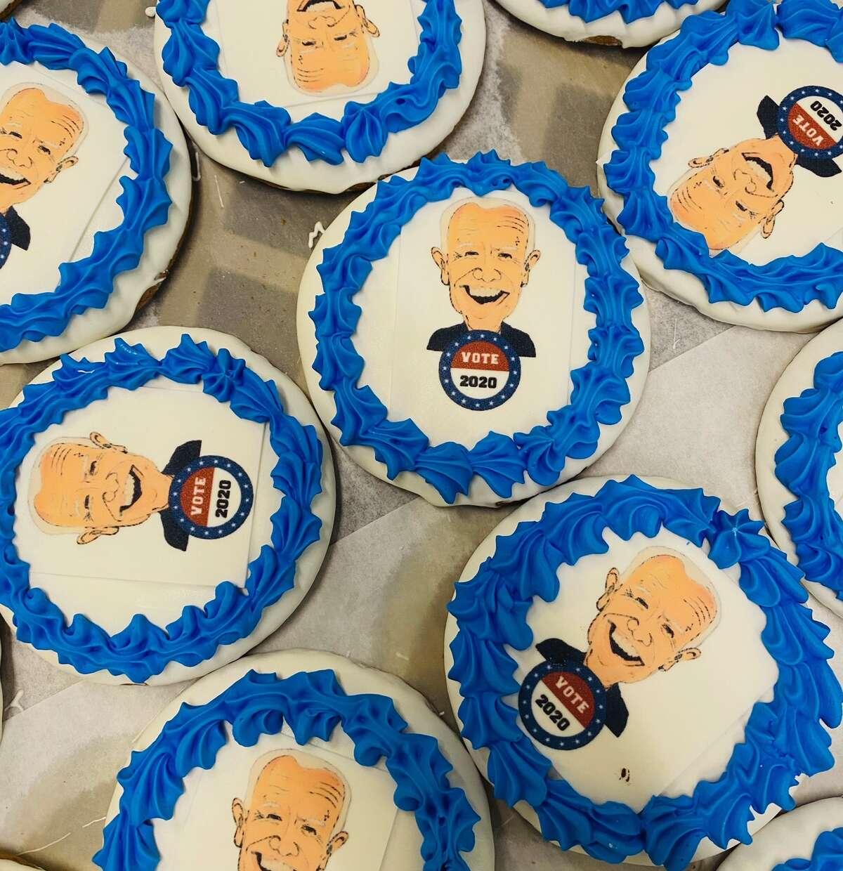 Three Brothers Bakery's Biden cookie.