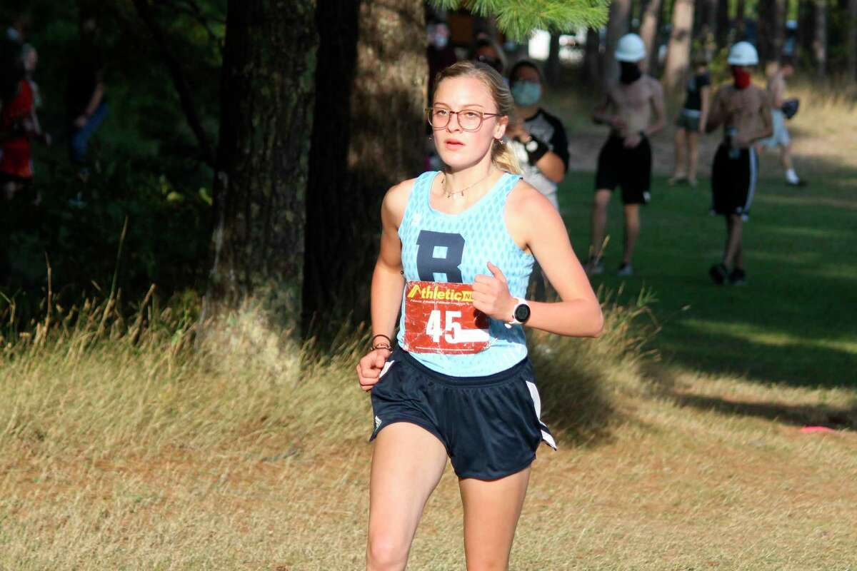 Brethren senior Alexis Tracy will make her fourth appearance in the Division 4 cross country state finals at Michigan International Speedway on Saturday. (News Advocate file photo)