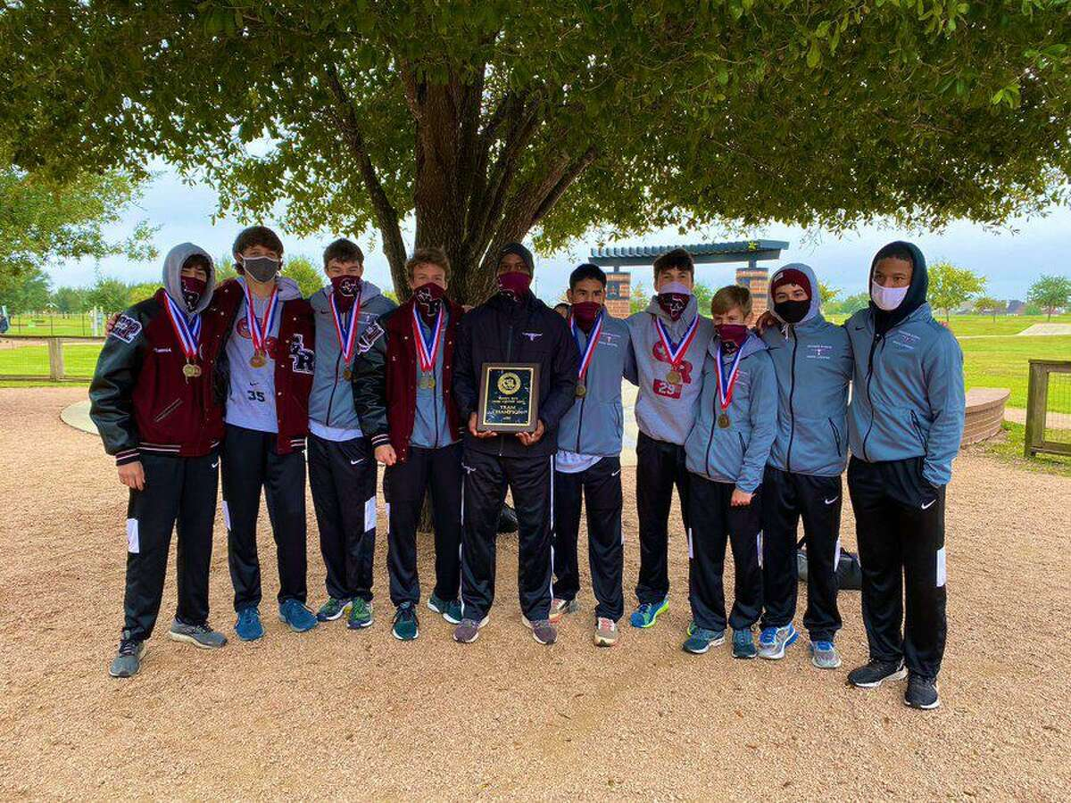 The George Ranch boys cross country team won the District 20-6A championship, represented by Eli Greene, Jacob Curtis, John Moore, Forrest Ancisco, Matthew McDonald, Phoenix Tafoya and Travis Morrey.