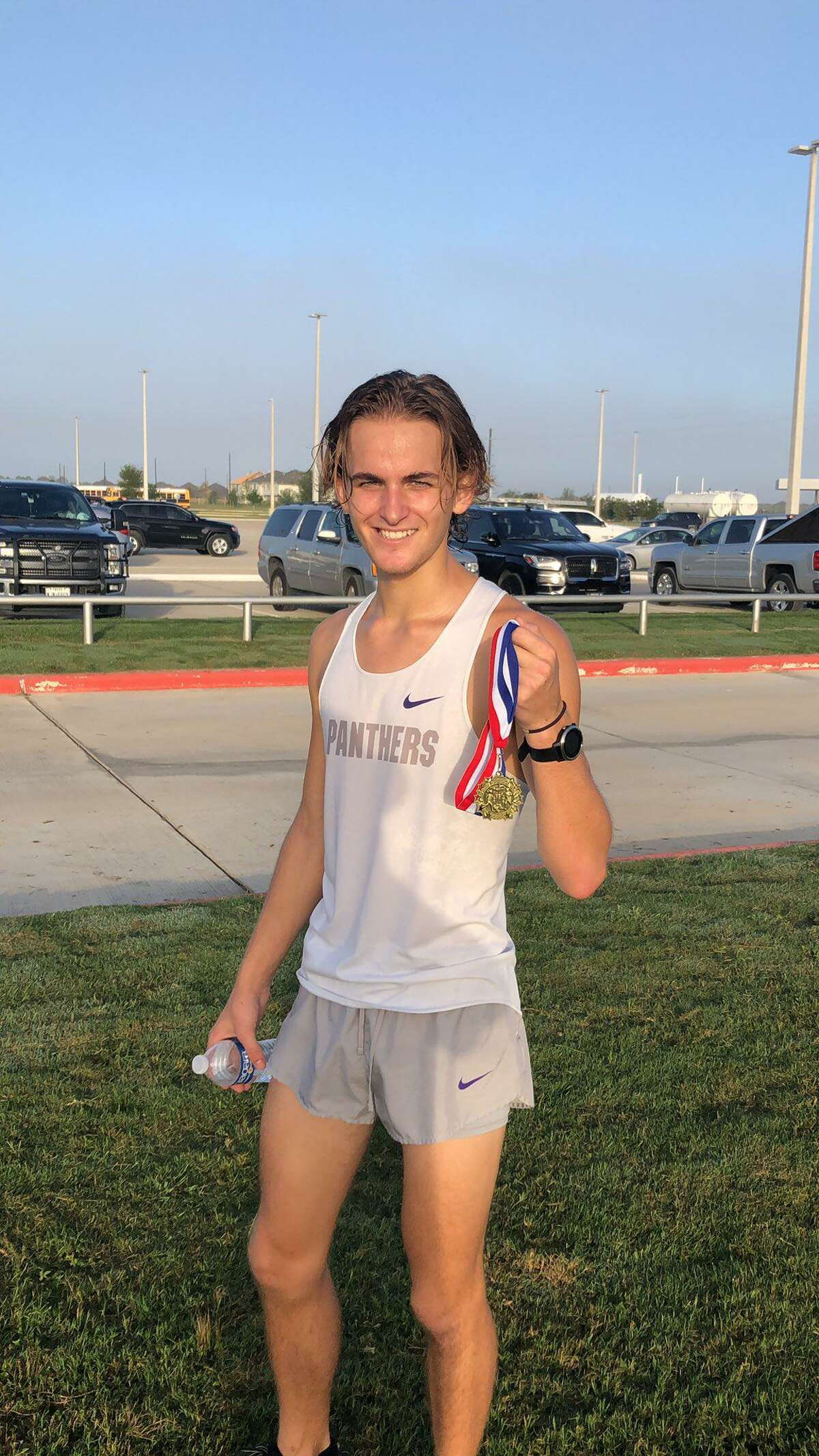 Ridge Point senior Whitaker Bird repeated as District 20-6A cross country champion with a five-kilometer time of 16:03.0.