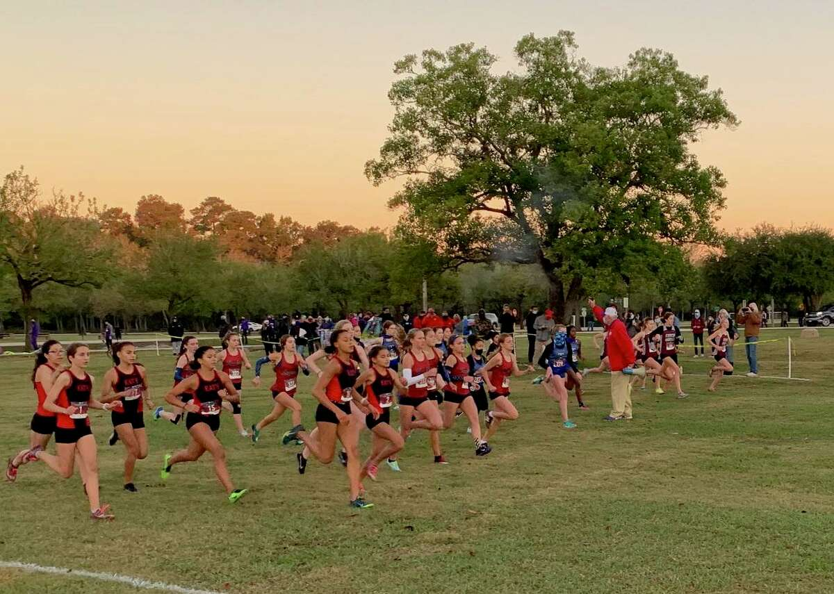 The girls varsity race starts at the District 19-6A cross country championships, Oct. 30 at Bear Creek Park. Cinco Ranch and Katy advanced to the Region III meet.