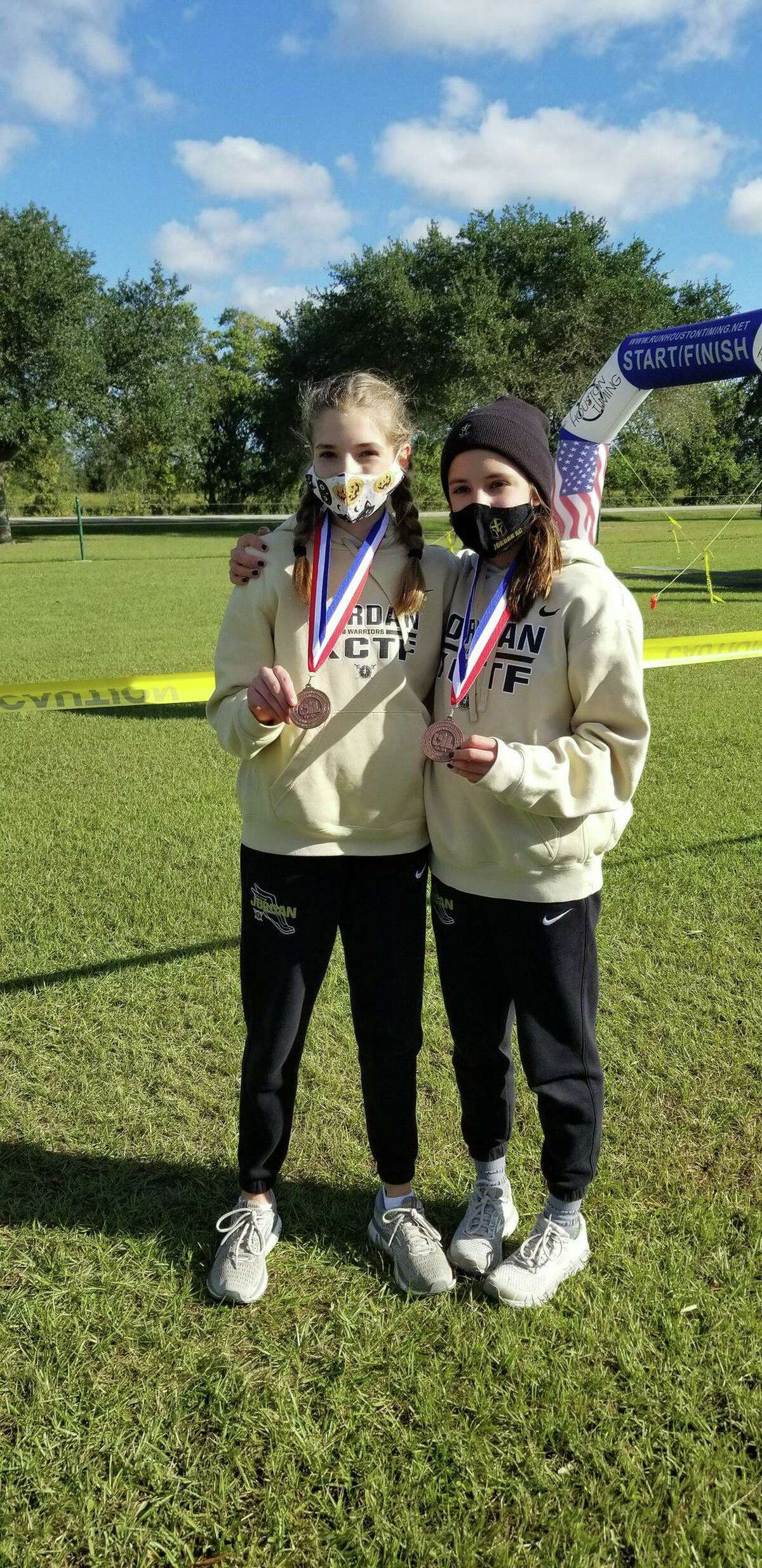 Jordan High School qualified its first runners for the Region III championships, as Addison Sutton and Beatriz Laepple finished among the top 10 runners at the District 19-5A championships.
