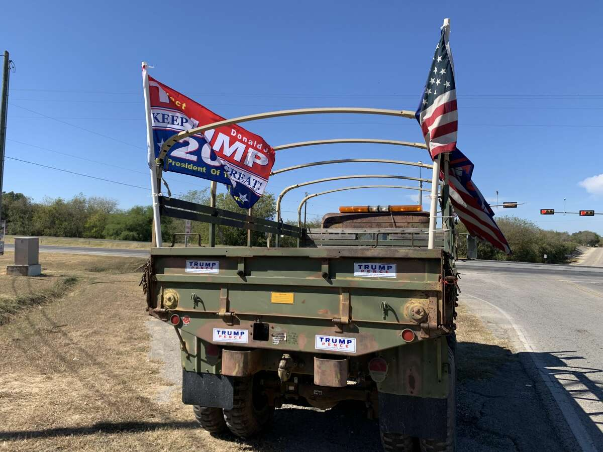 Trump Train in San Antonio on Nov. 3, 2020.
