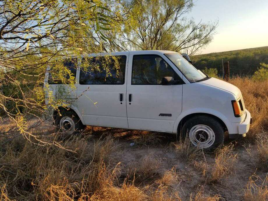 U.S. Border Patrol agents said they found this van abandoned by the riverbanks of the Rio Grande. The van was loaded with 848.10 pounds of marijuana with an estimated street value of $678,480. Photo: Courtesy Photo /U.S. Border Patrol