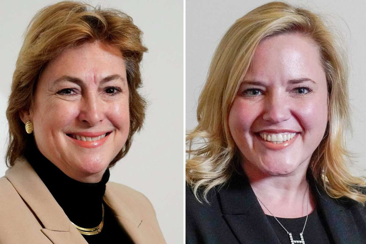 Incumbent Harris County District Attorney Kim Ogg, left, faces Republican Mary Nan Huffman in a bid for re-election. Huffman is a former Montgomery County prosecutor and the legal counsel for the Houston Police Officers' Union.