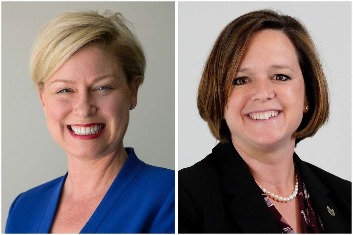 Rep. Sarah Davis and the State House District 134 opponent Democratic challenger Ann Johnson.