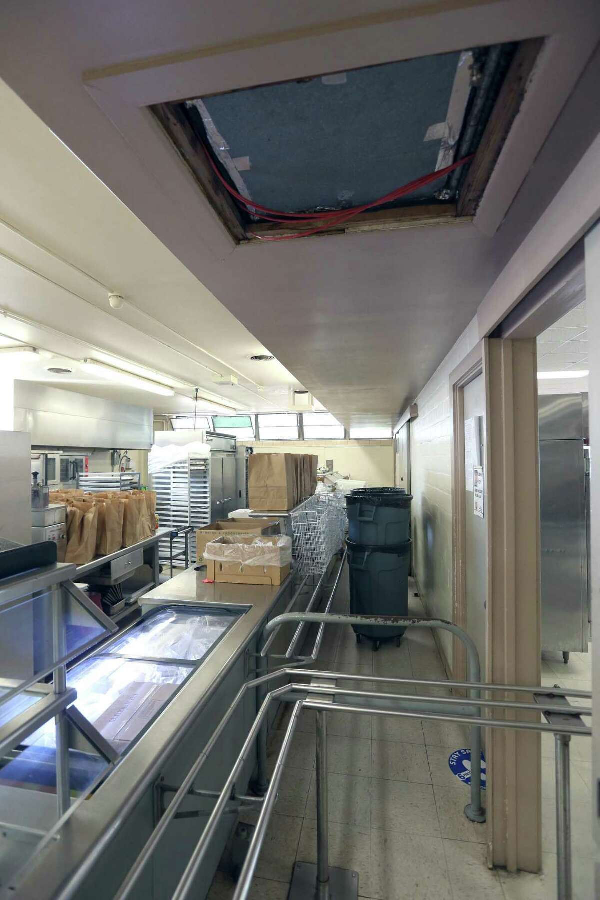 Outdated lunchroom facilities at Rhodes Middle School in the San Antonio Independent Schoold District would be renovated.