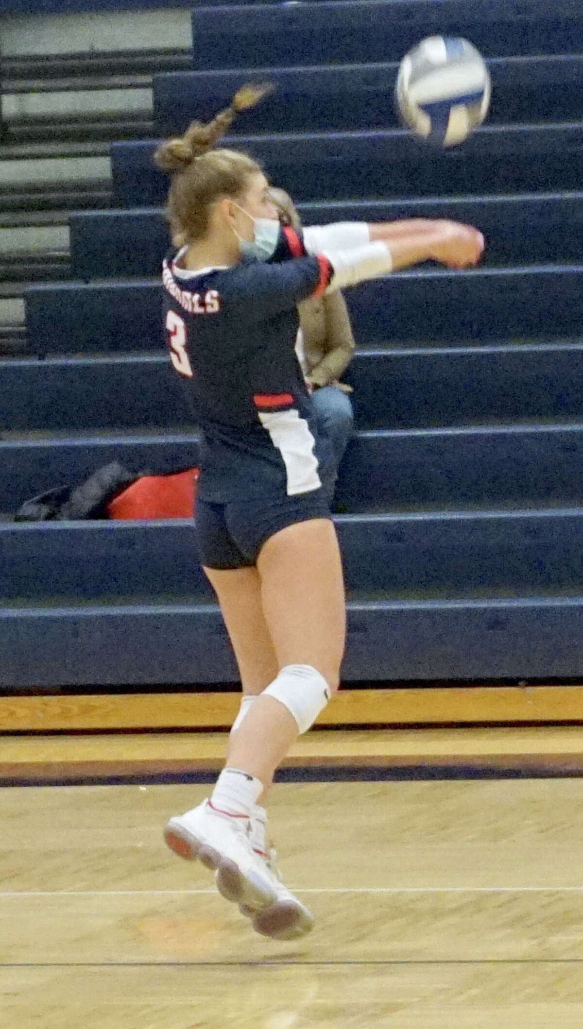 The Big Rapids volleyball team was defeated in three sets by Cadillac on Tuesday night.
