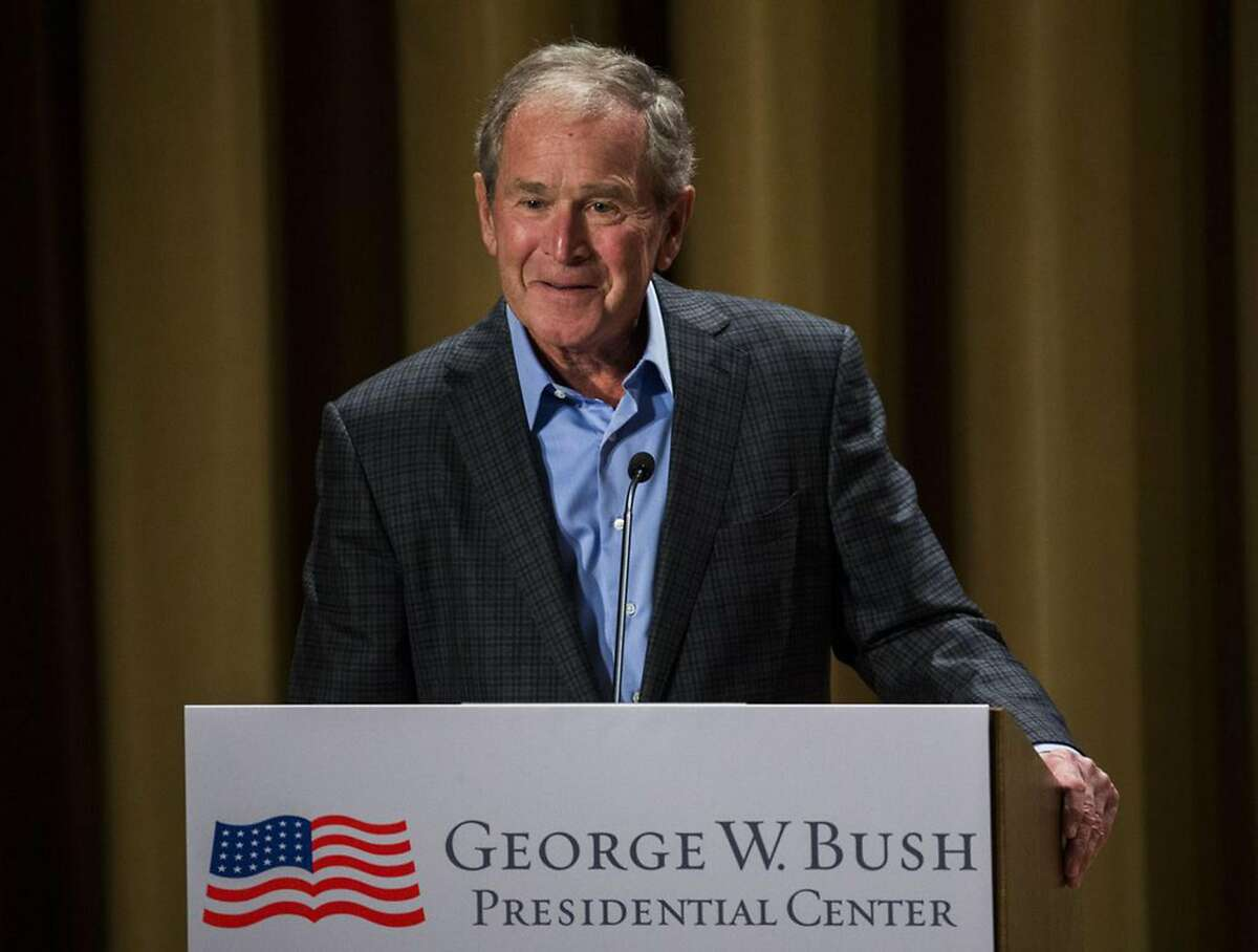 Former President George W. Bush, seen here in 2017, congratulated President-elect Joe Biden on winning the White House, sending a strong message to his fellow Republicans about the legitimacy of an election that President Donald Trump has refused to concede.