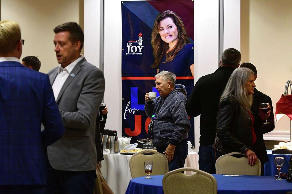Supporters mingle as they wait for election results during a Liz Joy for Congress Watch Party on election day at the River Stone Manor on Tuesday, Nov. 3, 2020 in Schenectady, N.Y. Joy is the Republican challenger to incumbent Democratic Congressman Paul Tonko. (Lori Van Buren/Times Union)