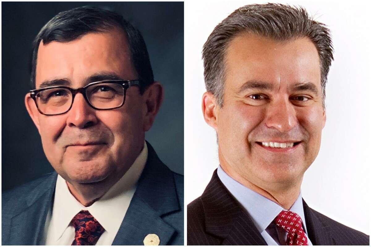 State Sen. Pete Flores, left, was defeated by Democrat Roland Gutierrez in Senate District 19.