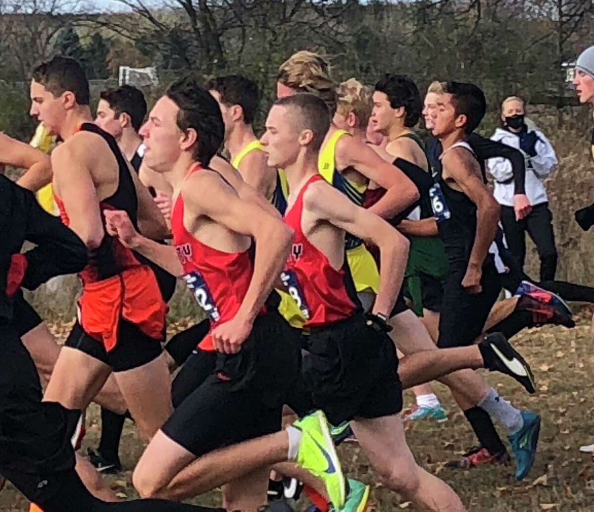Reed City runners pick up the pace at the regional race on Saturday. (Courtesy photo)