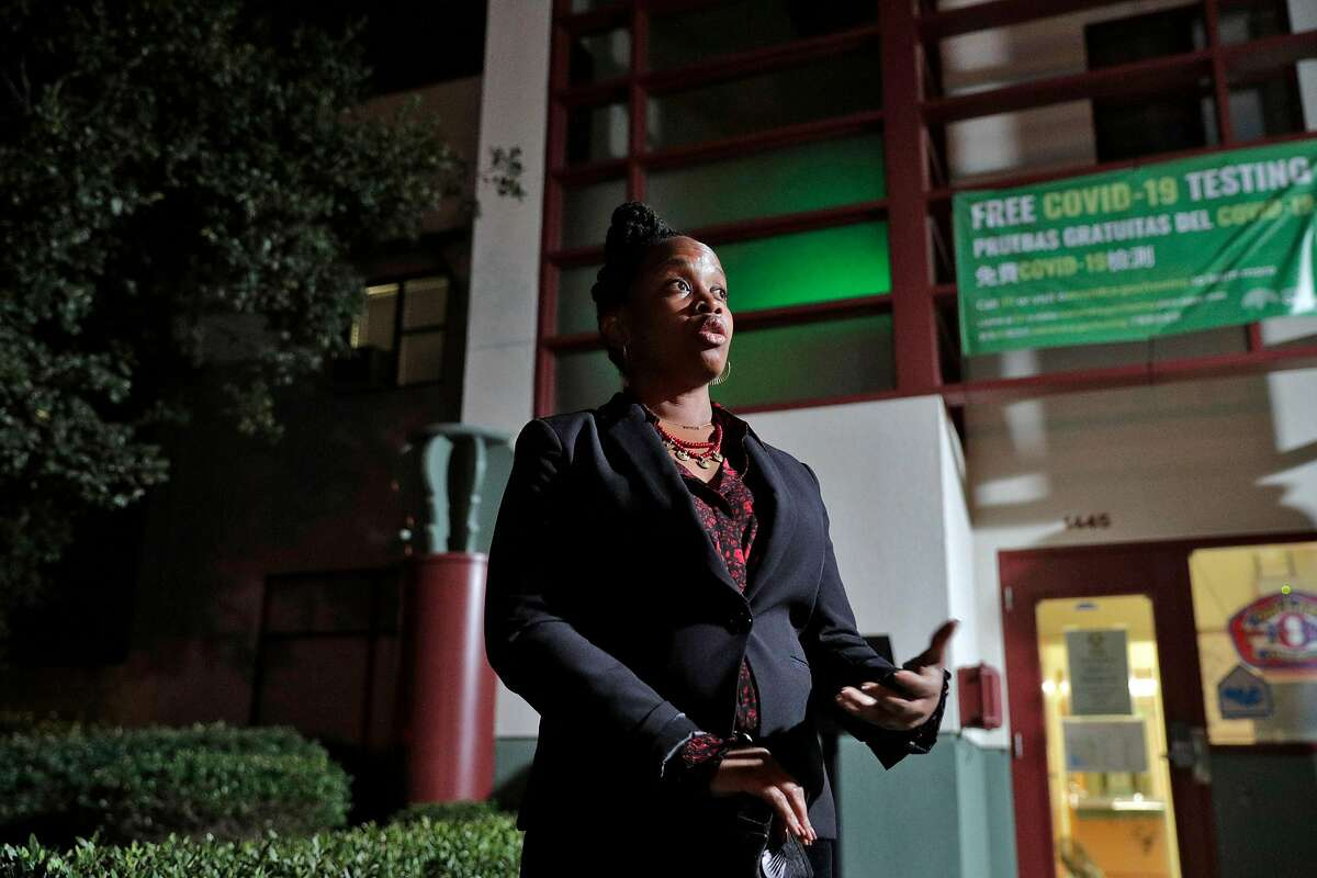 Carroll Fife, who is challenging Oakland coucilmember Lynette Gibson McElhaney to represent District 3, at Oakland Fire Station No. 3 in Oakland, Calif., on Tuesday, November 3, 2020.
