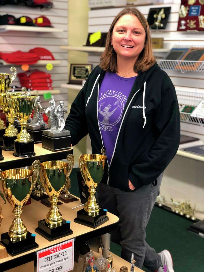 Lynn Vasquez has owned Lucky Lizard Award & Gifts for 13 years. (Courtesy photo)