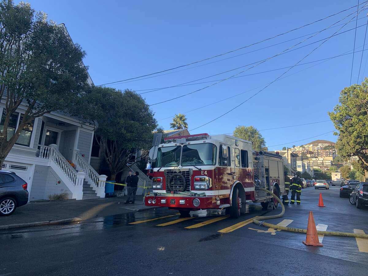 Fire crews in San Francisco responded to a blaze on the 4200 block of 23rd Street in the Noe Valley neighborhood at about 2 a.m. Wednesday, Nov. 4, 2020.