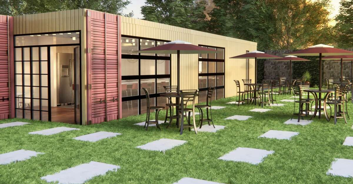 The Real McCoy in Delmar is planning to repurpose two shipping containers to create a kitchen and dining area