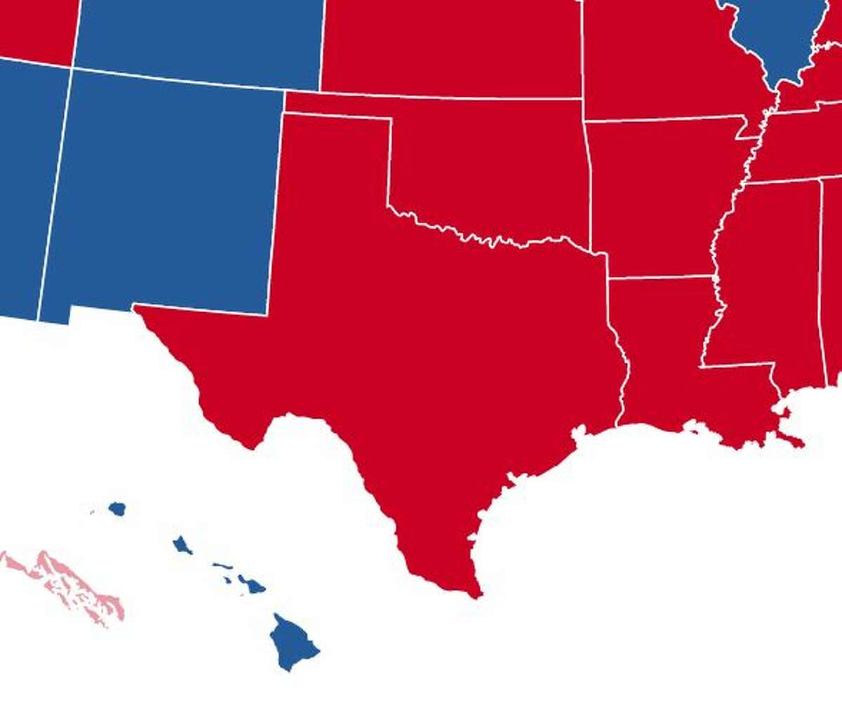 Texas remained big and red for the 2020 election.