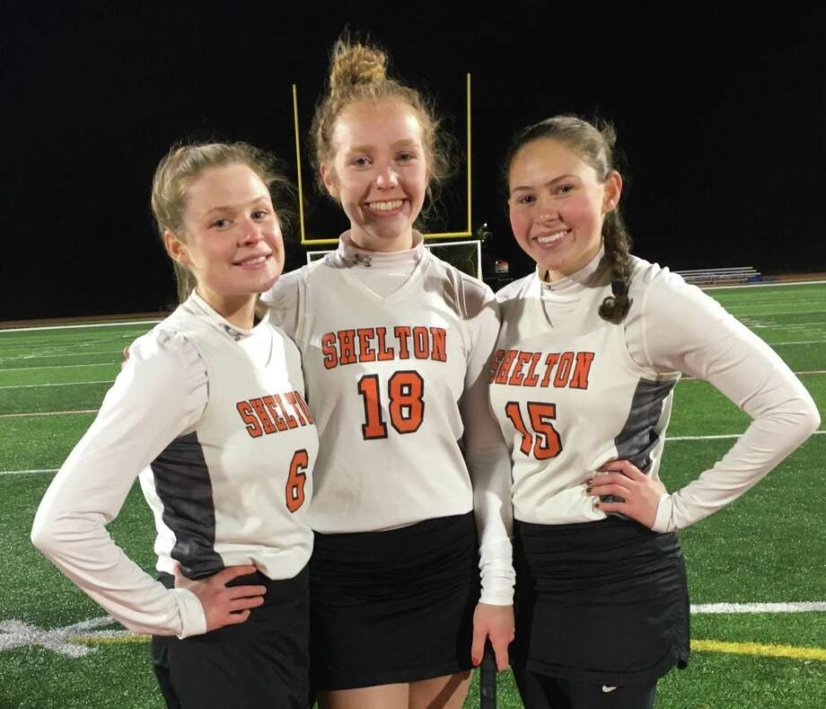 Cate Santa, Keira O'Connor and Sammy Rago have gone from high school novices to senior captains. Photo: Shelton High Athletics / Contributed Photo / Shelton Herald