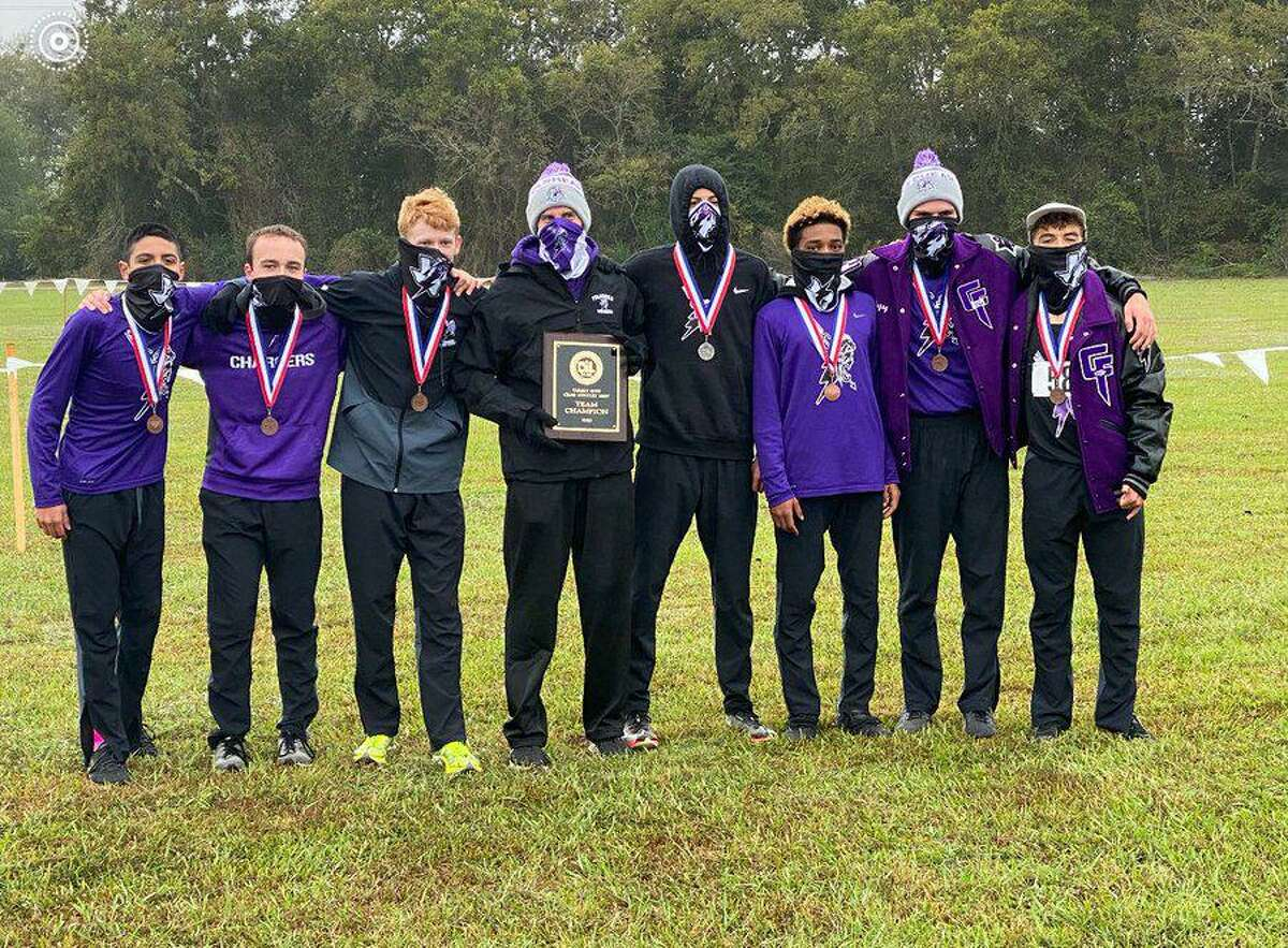 The Fulshear boys cross country team of E.J. Tongee, Jarvis Bonds, Ashton Oxford, Zakary Sury, James Harrison Steen, Celso Pacheco and Patrick McCann won the District 24-5A championship.