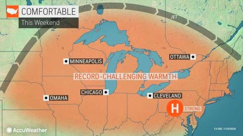The jet stream will settle in across the northern tier of the nation instead of usually setting up hundreds of miles to the south where it usually is positioned in November. (Photo provided/AccuWeather)