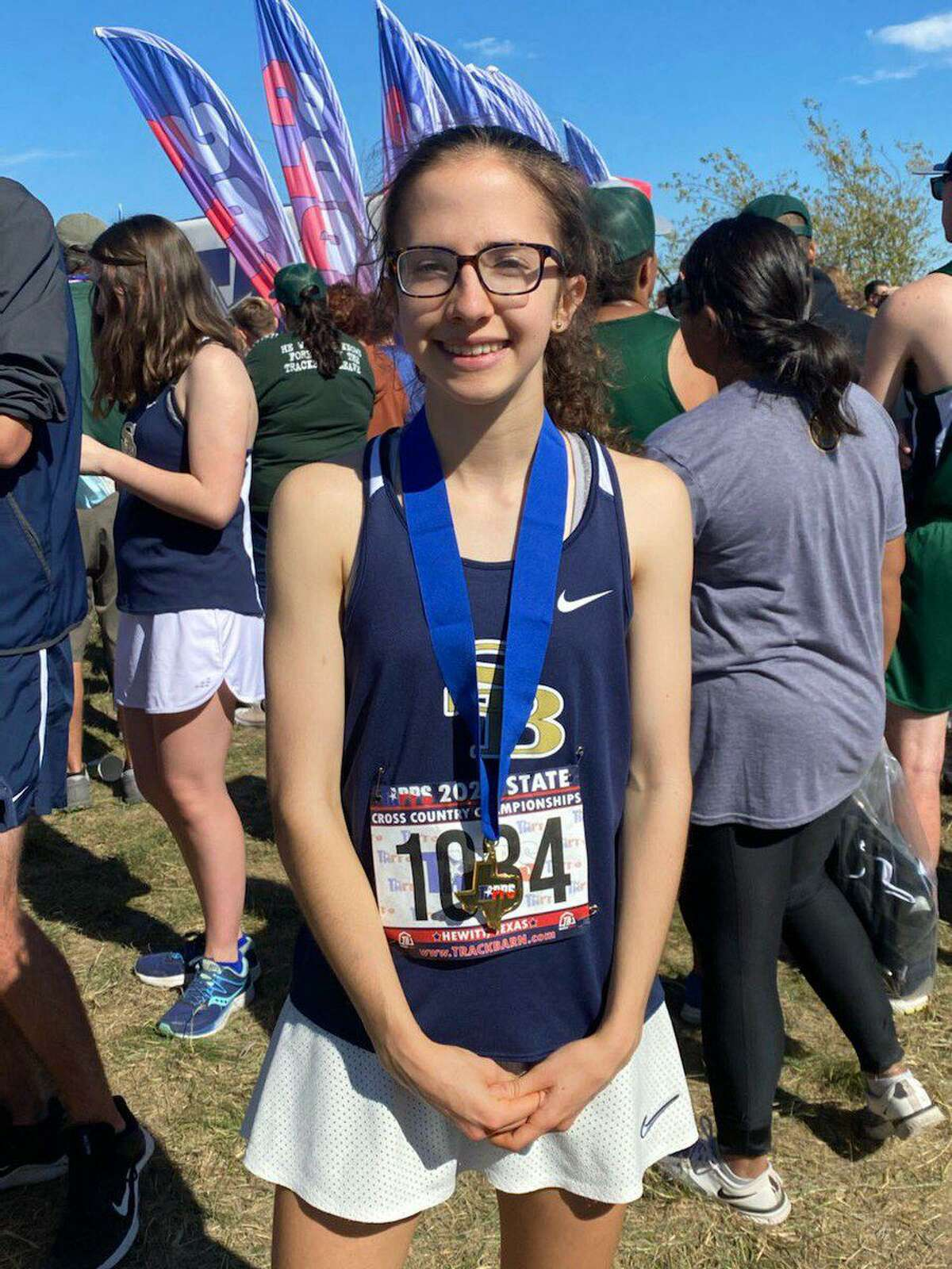 Second Baptist freshman Lauren Baker was the TAPPS 5A girls cross country state runner-up, clocking a two-mile time of 12:02.3. Only three runners broke the 12-minute mark.