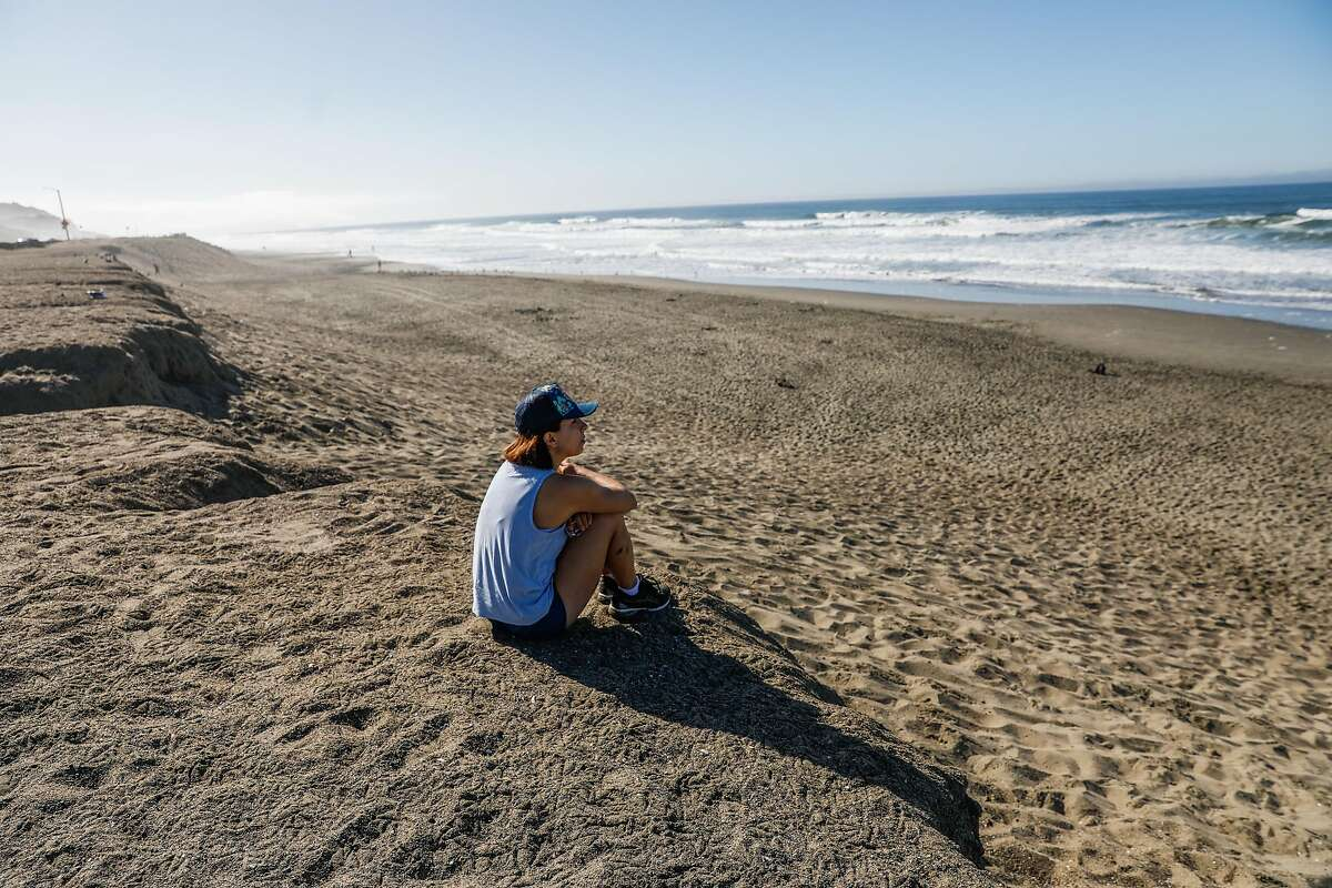 Shannon Bronson tries to relax on the beach and clear her mind from the anxiety surrounding the election.