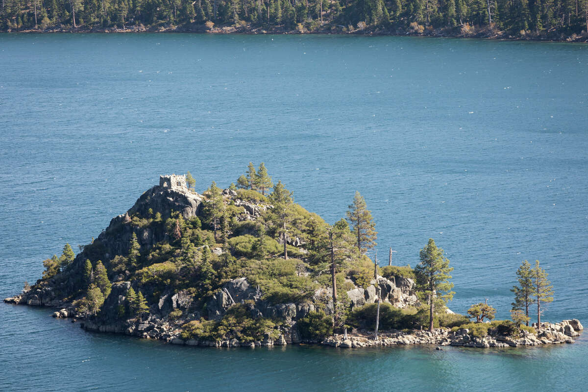 Mrs. Lora Josephine Knight built a tea house at the top of Fannette Island in Emerald Bay State Park.