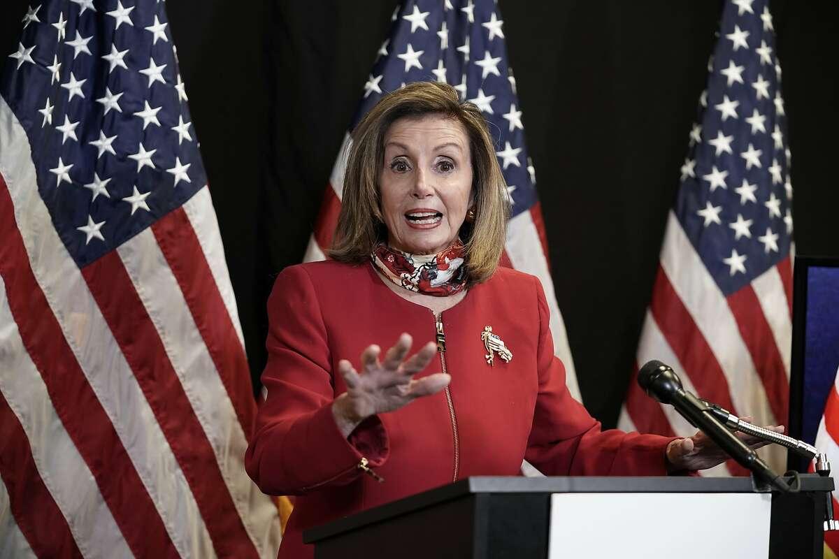 House Speaker Nancy Pelosi, D-San Francisco, at a news conference in Washington, D.C., on Nov. 3.