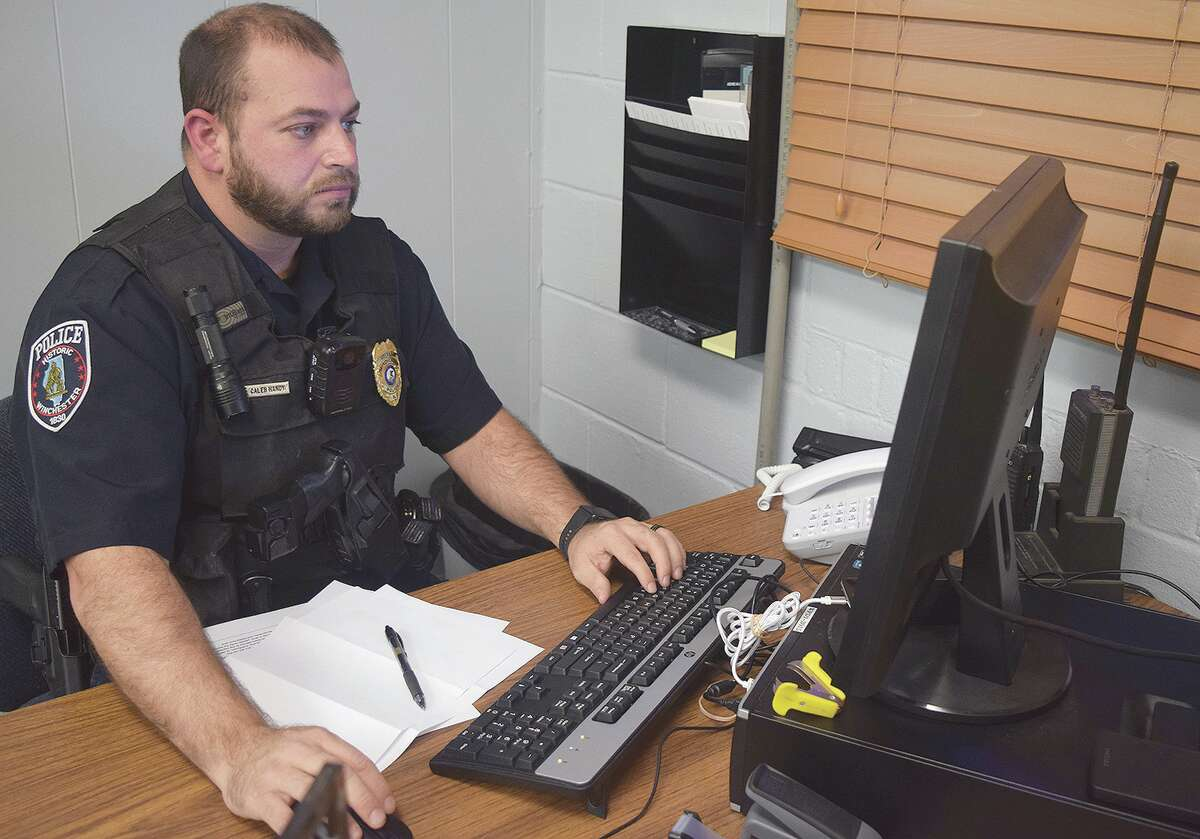 Caleb Handy became Winchester's police chief in October after serving nearly a month as interim chief.