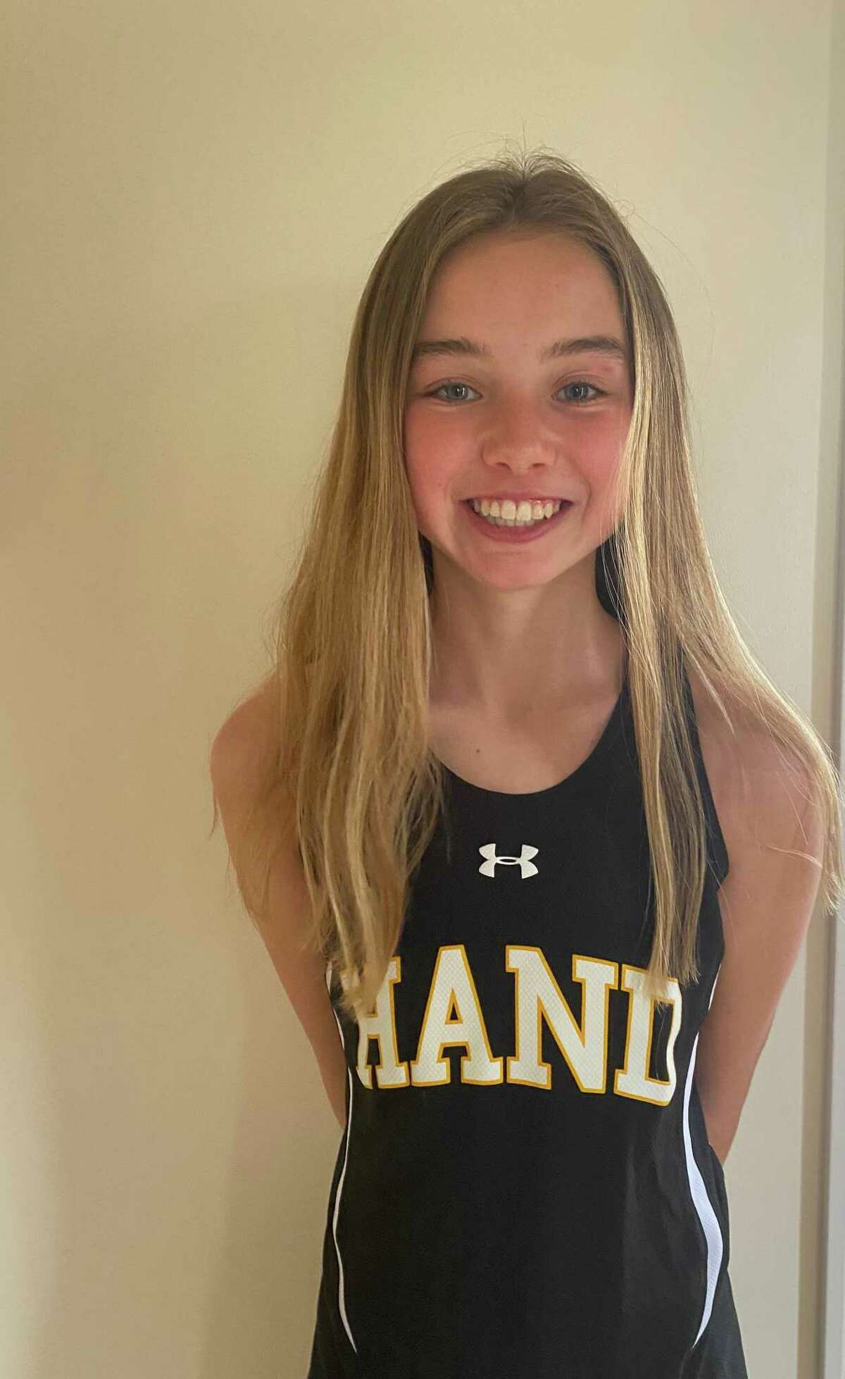 All-Area girls indoor track selection Anna Steffen of Hand