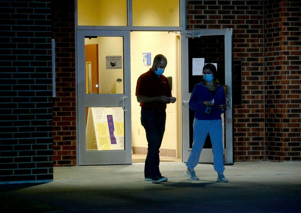 The last of Super Tuesday voters exit after casting their vote at Rogers Park in Beaumont.. Photo taken Tuesday, November 3, 2020 Kim Brent/The Enterprise