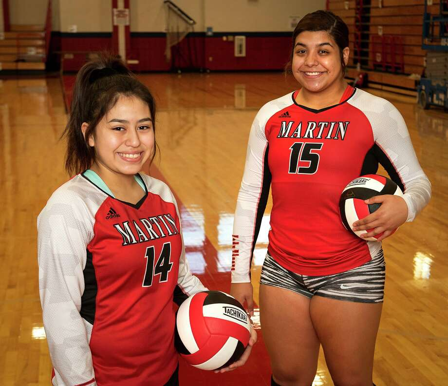 Ivy Liendo and Melanie Duron are helping Martin make a push to get back into the postseason and hang its first banner since 2006. Photo: Danny Zaragoza / Laredo Morning Times