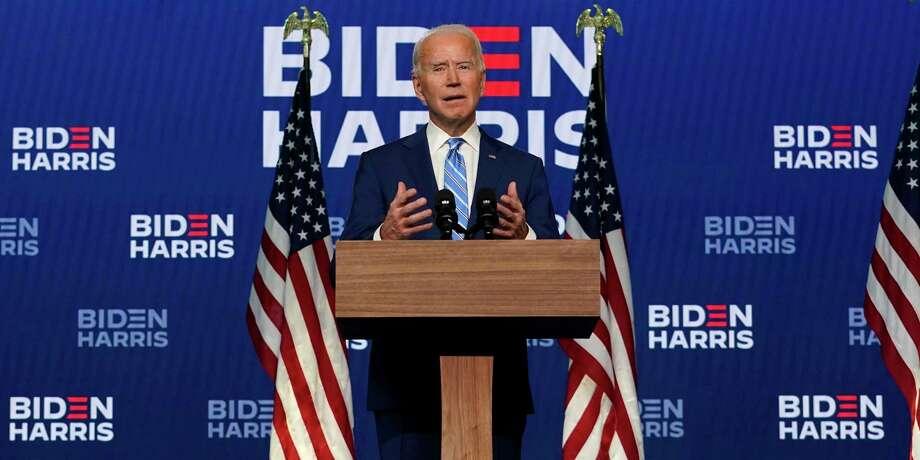 El candidato demócrata a la presidencia Joe Biden habla durante una conferencia el miércoles 4 de noviembre de 2020, en Wilmington, Delaware. Photo: Carolyn Kaster /Associated Press / Copyright 2020 The Associated Press. All rights reserved