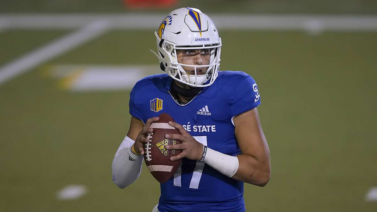 Quarterback Nick Starkel and San Jose State meet San Diego State in Carson (Los Angeles County) at 6 p.m. Friday. (CBSSN/960).