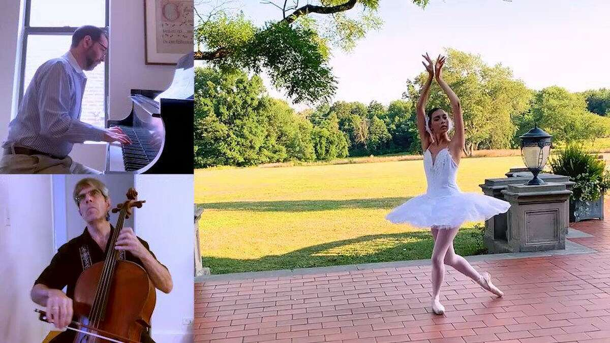 A dancer from New England Academy of Dance did a virtual performance with Norwalk Symphony Orchestra music director Jonathan Yates and cellist Gunnar Sahlin.