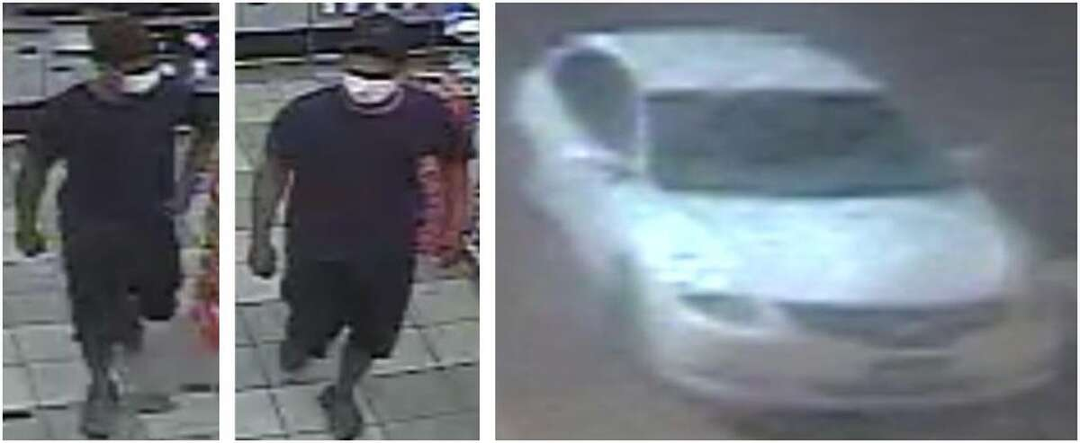 Laredo police said they are looking for this man in connection with a robbery. He was last seen in the car shown in this photo.