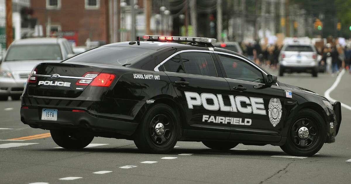 A file photo of a Fairfield, Conn., police cruiser.