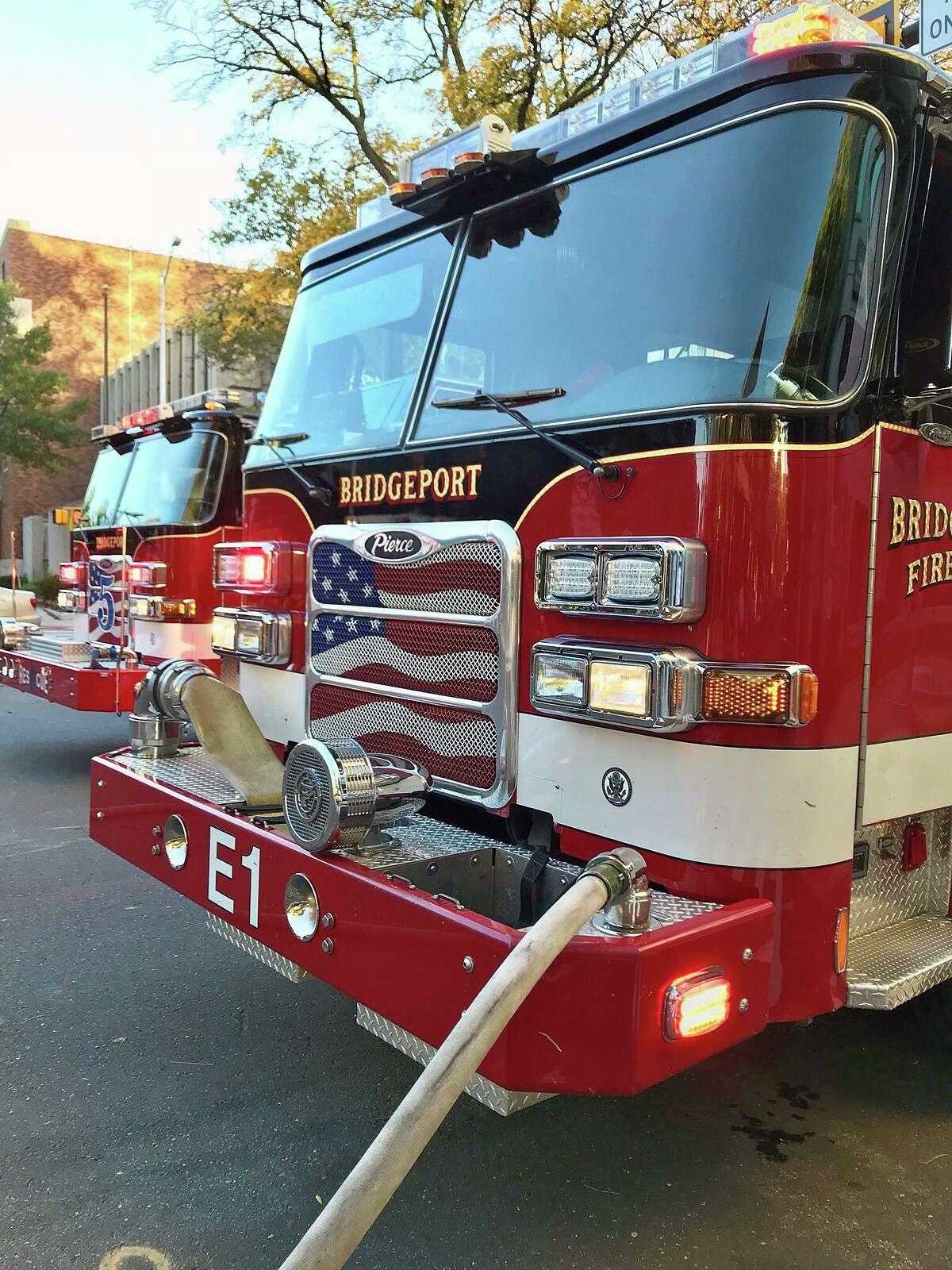 A file photo of a Bridgeport, Conn., fire engine.