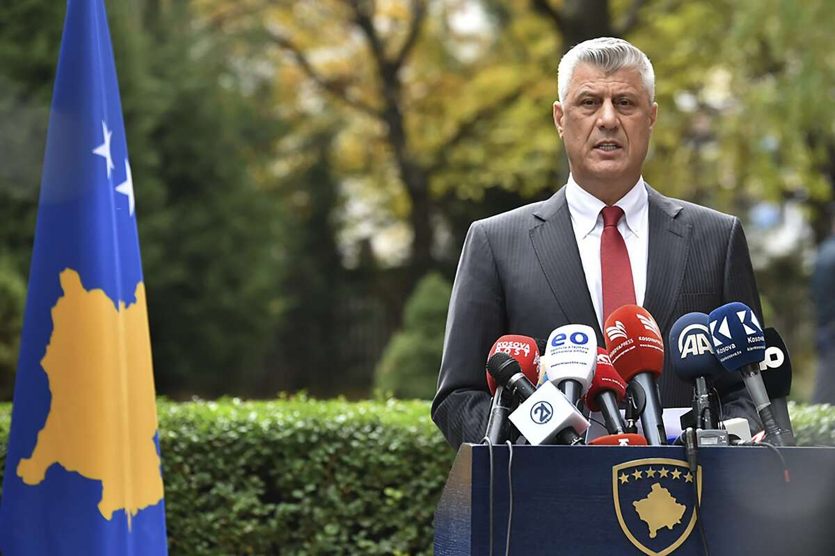 President Hashim Thaci a guerrilla leader during Kosovo's war for independence, has resigned to face charges for war crimes issued by at a special court in The Hague, Netherlands.