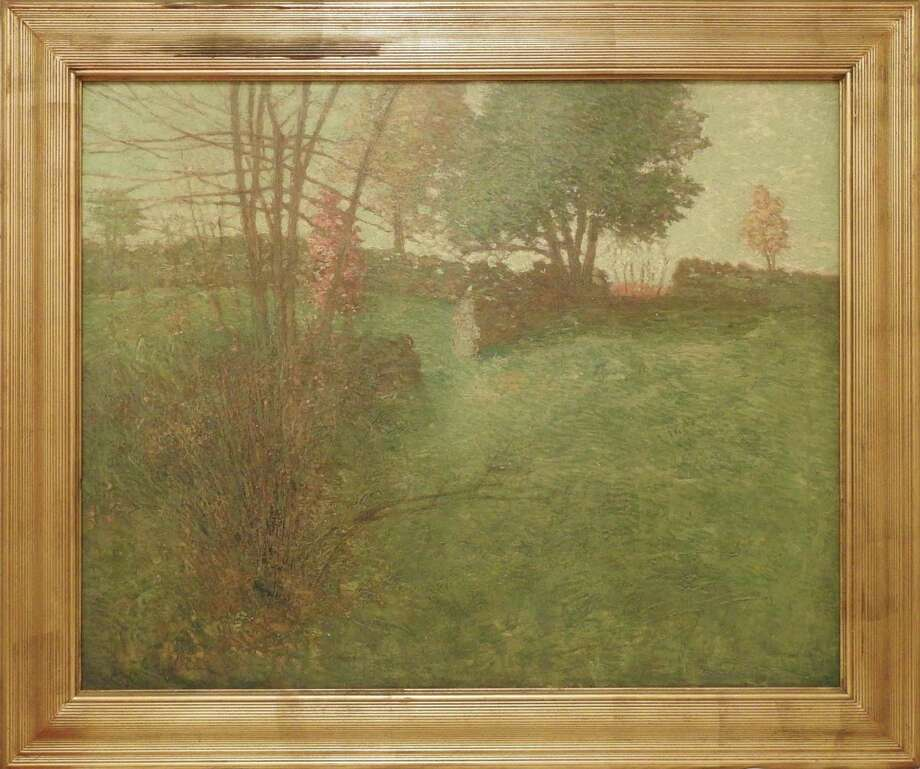 """""""Open Barway,"""" by Julian Alden Weir, depicts a scene at his former farm in Wilton and Ridgefield. The painting has been purchased by the Weir Farm Art Alliance and donated to Weir Farm National Historic Site to commemorate its 30th anniversary on Oct. 31. Photo: Weir Farm Art Alliance / Contributed Photo / Wilton Bulletin Contributed"""