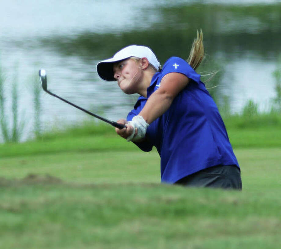 Marquette Catholic's Audrey Cain is one of the area golfers who will play in this weekend's Gateway PGA High School Championship. Play begins Friday at Spencer T. Olin Golf Course in Alton and concludes Saturday at Sunset Hills Country Club in Edwardsville. Photo: Greg Shashack | The Telegraph