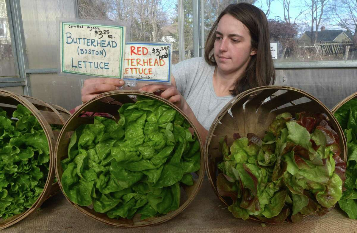 The 2020 Westport Winter Farmers Market opens Nov. 12 at Gilbertie's Herbs and Garden Center in Westport. Dana Scott, of Fort Hill Farms, arranges produce during the 2018 Westport Winter Farmers Market, in this file photo. The Westport Farmers Market is one that doesn't fade away with the frost. Its Winter Farmers Market (WFM) has been going since 2010 and returns this year, with a few twists to address pandemic safety concerns. Opening day is Thursday, Nov. 12. Lori Cochran-Dougall, executive director of the WFM, said everyone is excited about the new winter model. Held at Gilbertie's Herbs and Garden Center, at 7 Sylvan Lane, it runs each Thursday through March 11. Hours are 10 a.m. to 2 p.m.