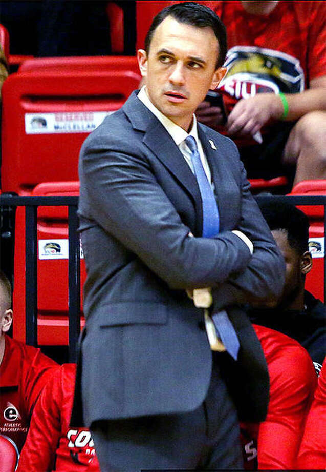 SIUE men's basketball coach Brian Barone's team will open the season Nov. 27 in a multi-team event at Youngstown State. The Cougars will face host Youngstown State Nov. 27, Eastern Michigan Nov. 28 and Carlow Nov. 29. SIUE has been tabbed to finished 11th in the Ohio Valley Conference in a preseason poll. Photo: SIUE Athletics